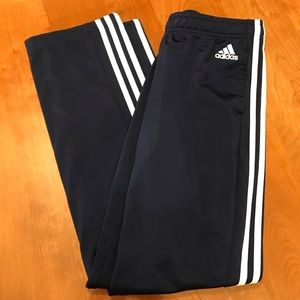 Adidas track pants navy small